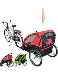 papilioshop B-Fox New Remorque poussette chariot pour le transport de 2Deux enfants avec la vélo roues avant pivotables vélo portabimbi enfant enfants Chariot pliable Landau de avec x porte bébé