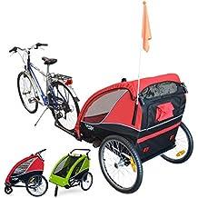 PAPILIOSHOP B-FOX Remolque carrito para el transporte con kit de footing jogging jogger de 1 o 2 Uno Dos niño niños bebè con la bici bicicleta rueda delantera giratoria 360° carro plegable cochecito de con X bicicletas