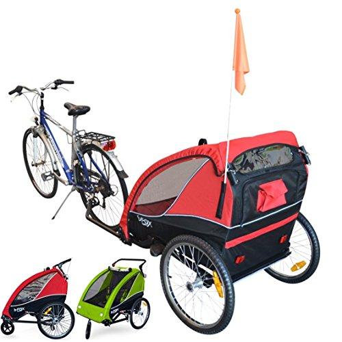 PAPILIOSHOP B-FOX Remorque à vélo pliable poussette chariot pour 1 ou 2...