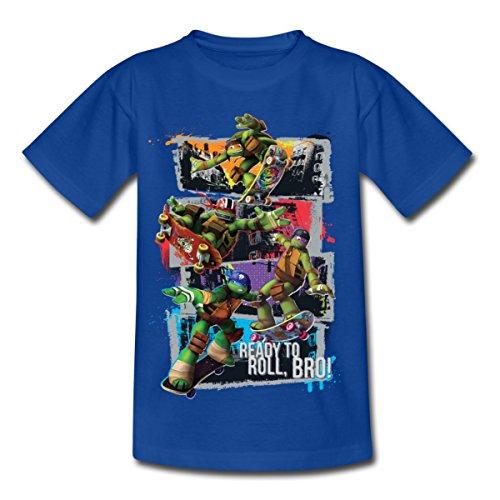 tles Leo Donnie Raph Mikey Fahren Skateboard Kinder T-Shirt, 122/128 (7-8 Jahre), Royalblau (Raph Ninja Turtle)