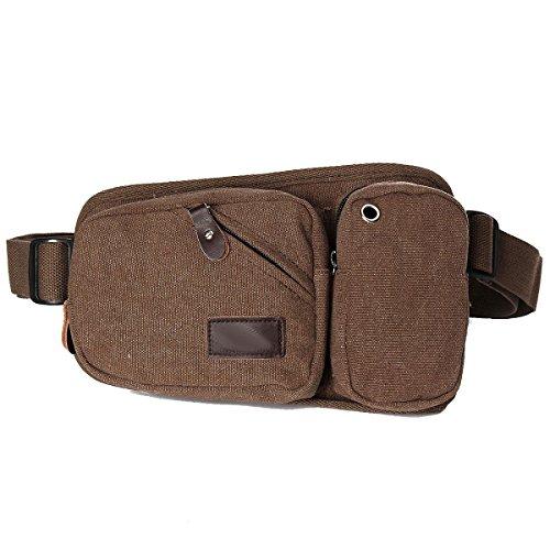 Herrenmode Außensporttaschen Tuch Multicolor Brown