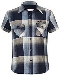 Naughty Ninos Boys Cotton Navy Blue Short Sleeve Shirt For 2 to 14 Years
