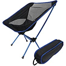 Silla plegable Ultra-ligero estable, Asenart Silla de escritura al aire libre portátil del ocio, silla trasera de la pesca del taburete, altura ajustable
