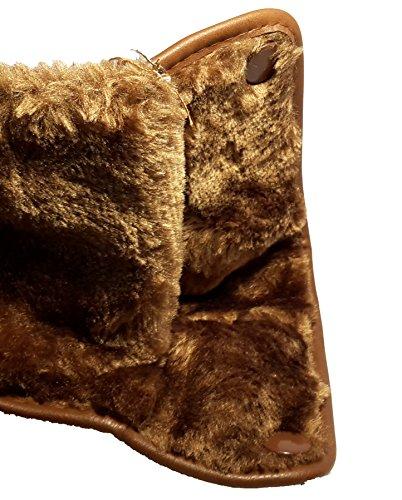 Bottes hiver très chaudes avec de la fourrure extérieure, chaussures femme doublées, modèle 11094104010008, beige, marron ou noir, différents modèles et tailles. Marron modèle C.