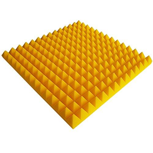 Akustikschaumstoff Pyramiden 1 X Ca 49x49x5cm Gelb Schaumstoff Noppenschaum