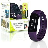 Wellsmart Cardio Ads Smartwatch Fitness Pulsera Tracker Bluetooth Podómetro Monitor de Ritmo Cardíaco Monitor de Sueño Resistente al Agua a 30 m App en Español Integra Google Fit & Apple Health con Ofertas Especiales