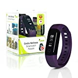 Wellsmart Cardio Ads Smartwatch Fitness Armband Tracker Schrittzähler Herzfrequenz Pulsuhr Schlafüberwachung Wasserdicht bis 30 m Deutsche App AOK Plus Bonus kompatibel