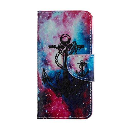 MOONCASE Étui pour Apple iPhone 5 / 5S Printing Series Coque en Cuir Portefeuille Housse de Protection à rabat Case Cover LD20 LD13 #0226