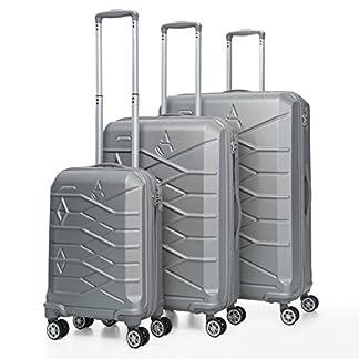 Aerolite Maleta, plata (Plateado) – ABS315 SILVER 3 PCS SET Vendor