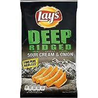 Lay's Chips extra ondulées saveur crème acidulée et oignon Le sachet de 120g - Prix Unitaire - Livraison Gratuit...