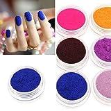 Bluelover 12 colori velluto polvere polvere Nail Art Tool decorazione set