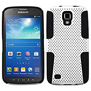 MyBat ASMYNA Astronaut Phone Protector Cover for Samsung Galaxy S4 Active i537 - Retail Packaging - White/Black