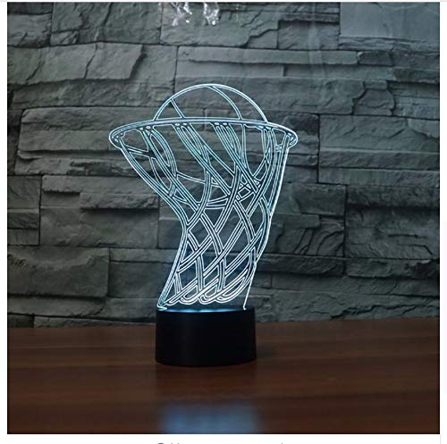 7 farbwechsel 3d acryl basketball box led nachtlicht usb schlafzimmer nachttischlampe leuchte dekor kinder geschenke licht box