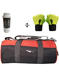 5 O' CLOCK SPORTS Gym Bag Combo Set Enclosed With Polyster Gym Bag With Shoe Compartment For Men For Men And Women... - B07B2XJP7T