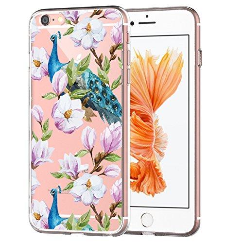 Custodia iPhone 6, Cover iPhone 6s Pacyer® Custodia Chiaro Cristallo Ultra Sottile Morbido Placcatura TPU Gel Case Cover per Apple iPhone 6/6s 4.7 (Cactus ragazza animale) 3