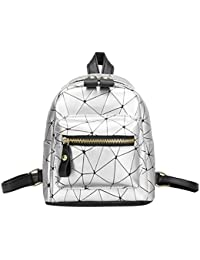 9d2c5735c3ed Innersetting Diamond Lattice Leather Mini Backpacks Women Geometry Travel  Shoulder Bags