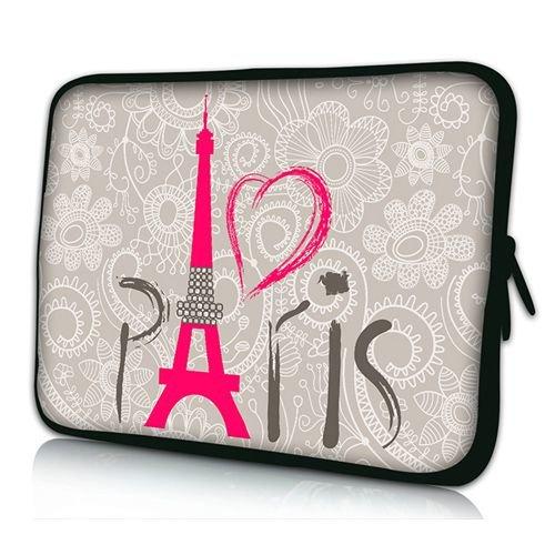 PEDEA Design Schutzhülle Notebook Tasche bis 17,3 Zoll (43,9cm), Paris 2