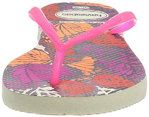 Havaianas Kids Slim Fashion, Tongs fille Beige 0121