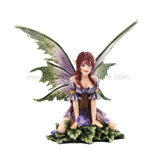 *New* 2013 Amy Brown Fantasy Wild Violet Faery Mushroom Fairy Statue Enchanted 6h Figurine by Pacific Giftware -