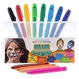 Blue Squid. Face Paint Kreiden für Kinder   12 Farbe kein Durcheinander, drehbarer Sticks   Beste Qualität Body Painting Set