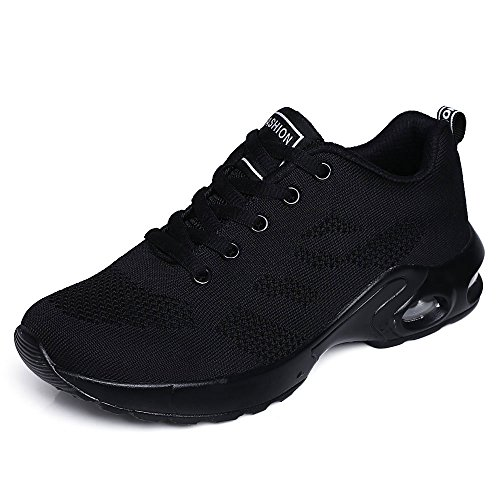 Scarpe Sportive da Corsa Air Sports da Donna Scarpe da Ginnastica Anti-Shock Running Jogging Sneakers da Ginnastica Unisex(38EU,all Black)