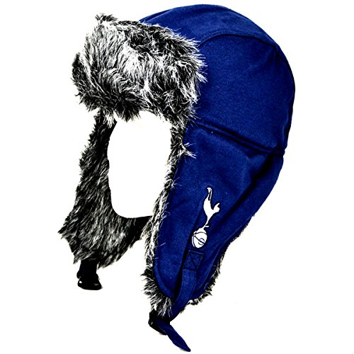 cecfa5c8 Tottenham Hotspur FC Adults Official Football Crest Trapper Hat (One Size)  (Blue/