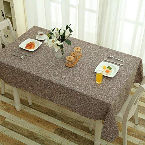 Mrs Sleep Tischdecke, Baumwolle, Leinen, einfarbig, Staubschutz, geeignet für die Küche coffee