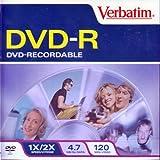 Verbatim 94817 Recordable DVD-R, Single Disc in Jewel Case