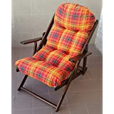 Sillón silla tumbona Relax de madera plegable Harmony Lusso cojín super acolchado H 100cm salón cocina salón sofá