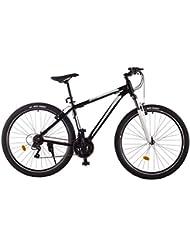 Ultrasport Alu Mountainbike 29 Zoll, Trekkingrad, Alurad mit 21-Gang Shimano-Kettenschaltung, Aluminiumrahmen mit Stahlgabel, Lenkervorbau Alu, einstellbare Federgabel vorne, schwarz