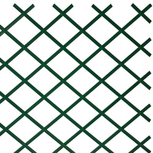 Sti traliccio in plastica verde grigliato estensibile 100x200 cm per piante e fiori