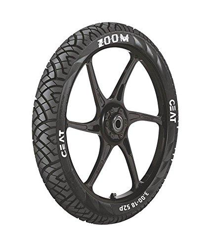 ceat zoom p100/90 - 18 bias tube-type bike tyre, rear Ceat Zoom P100/90 – 18 Bias Tube-Type Bike Tyre, Rear 51EQNuNg  L