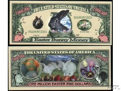 (5) Easter Million Easter Egg Dollar Bill by American Art Classics
