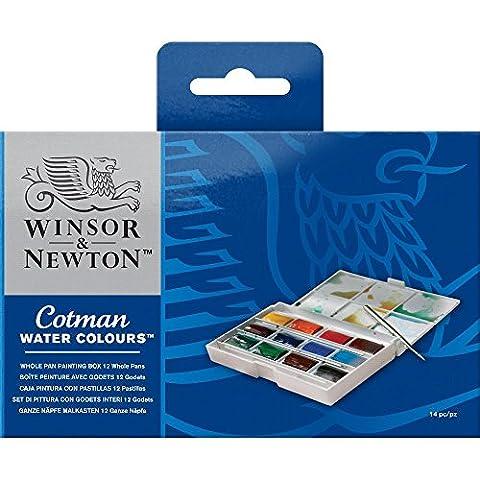 Winsor & Newton Cotman Aquarellfarbe 12 ganze Näpfe Painting Box