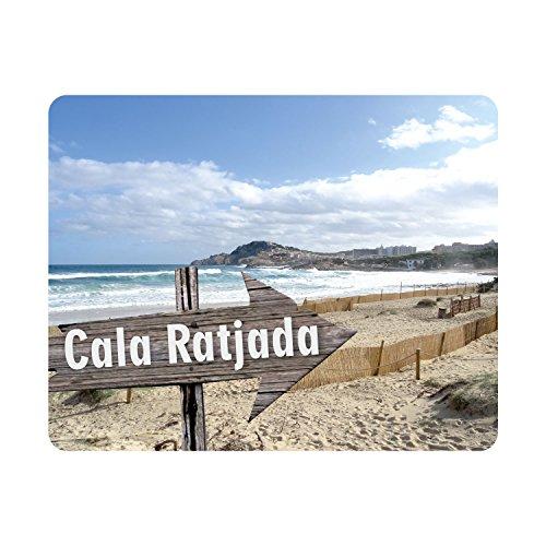 #detailverliebt Mousepad mit Cala Ratjada Motiv I dv_348 I 24 x 19 cm I Mallorca Malle Urlaub Reise Strand Meer I Maus-Pad Rutschfest