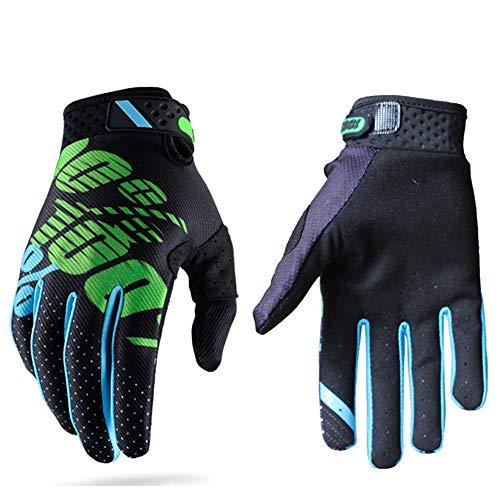 Guanti da corse motociclistiche per uomini e donne, adatti per attività all'aria aperta e motociclismo, con dita completamente copert