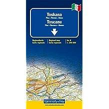 Toscane (Pise, Florence, Sienne) - carte régionale Italie (échelle : 1/200 000)