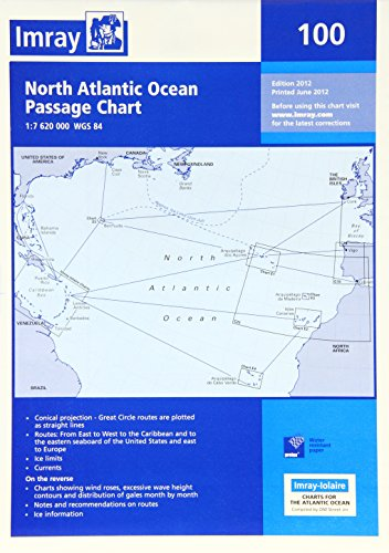Imray Chart 100: North Atlantic Ocean Passage Chart