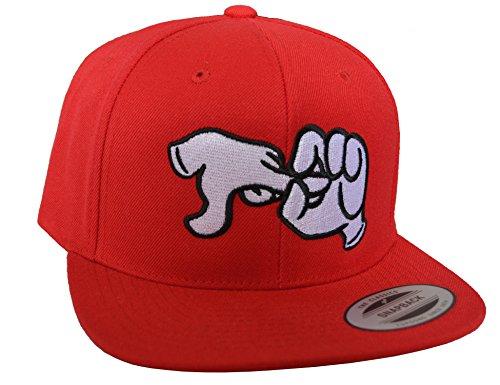 Baddery Petrolhead Industries: Fuck Hands - Cap für alle Tuning-, Drift-, und Motorsport Fans - Classic Snapback von Flexfit (One Size)