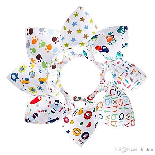 Bebedou Buntes Bandana-8er-Pack, Lätzchen, Bandana, reine Baumwolle, Stylisches Bandana/Sabber-Lätzchen für Babys und Kleinkinder, bunte Designs, tolles Babyparty-Geschenk, Bäuerchen-tuch • Designs mit Zoo-Tieren • sehr gute Qualität