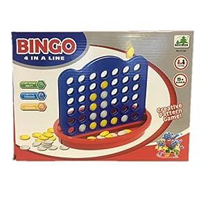 Fun Toys 10116-Juego de Bingo Line Up 4-BELIFLOR ebtes lógica de Juego de lógica Juguetes para niños con Alto Factor de diversión