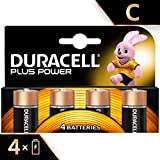 Duracell Plus Power Piles Alcalines de type C, Lot de 4