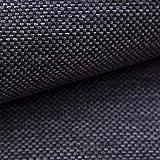 NOVELY® MUDAU | Polsterstoff | Meterware | Möbelstoff | Webstoff | Struktur-Stoff | Mélange | Grober Handwebcharakter | 17 Farben (12 Dunkelgrau)