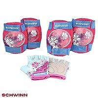 Schwinn Girls Multi-Sport Pad Set Gloves, Pink/Blue, One Size  (Age 3+)