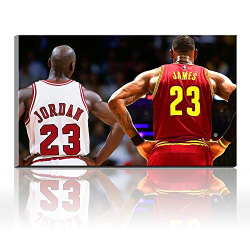Karen Max Lebron James Michael Jordan Inscribed Wings Air Jordan Gifts for Decor Sports Poster Ölgemälde Leinwanddrucke Kunstwerke 20x28inch Frameless -