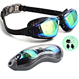 PrimAlite Swimming Goggles Silicone Anti-Fog, UV Protection for Adults Men Women Kids