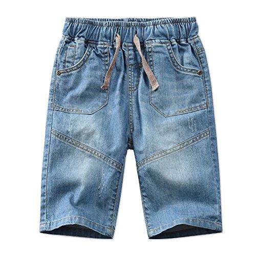 Big Boys Toddler Kids Denim Jeans Shorts Straight Washed Pants Size 4T 5T 6 8-12