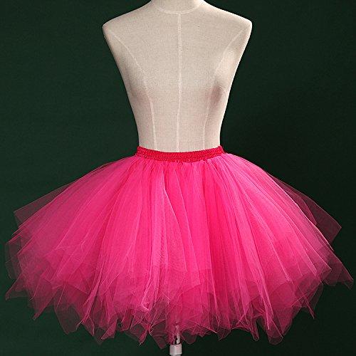 Tutu Frauen und Mädchen Ballettröckchen Röcke Prinzessin Ballett Pettiskirt Performing Dress Dancewear Unterröcke Rose Red