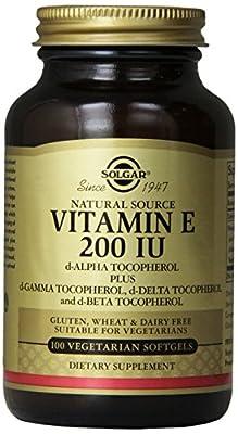 Solgar Vitamin E 134mg 200 UI 100 Vegetable Softgels by Solgar