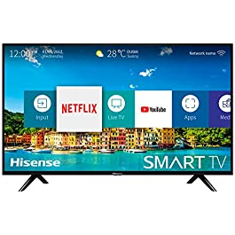 HISENSE H40BE5500 TV LED, Natural Colour Enhancer, Quad Core, Smart TV VIDAA U, Crystal Clear Sound, Tuner DVB-T2/S2 HEVC, Wi-Fi